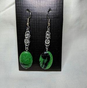 Handcrafted dangling earrings